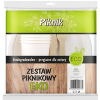 Zestaw PIKNIK 4xkubek/talerz/widelec/nóż