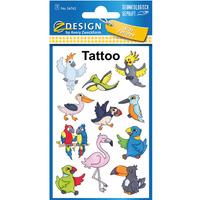 Naklejki tatuaże dla dzieci PTAKI 56762 Z-DESIGN KIDS TATTOO AVERY ZWECKFORM