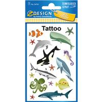 Naklejki tatuaże dla dzieci MORSKIE ZWIERZĘTA 56765 Z-DESIGN KIDS TATTOO AVERY ZWECKFORM