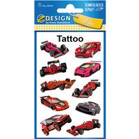 Naklejki tatuaże dla dzieci WYŚCIGÓWKI 56764 Z-DESIGN KIDS TATTOO AVERY ZWECKFORM