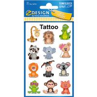 Naklejki tatuaże dla dzieci ZWIERZĄTKA 56761 Z-DESIGN KIDS TATTOO AVERY ZWECKFORM