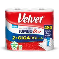 Ręcznik VELVET JUMBO Duo (2 sztuki) 2x240 listków 50m 2 warstwy 21x22,5cm 400g 100%celuloza 61251669