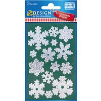 Naklejki Z-Design - srebrne śnieżki 52813 AVERY ZWECKFORM