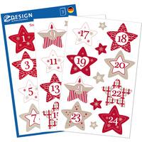 Naklejki Z-Design świąteczne - gwiazdy adwentowe 52890 AVERY ZWECKFORM