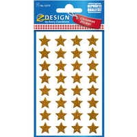 Naklejki Z-Design świąteczne - gwiazdki złote (błyszczące) 52274 AVERY ZWECKFORM