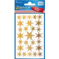 Naklejki Z-Design foliowe - złote gwiazdy 52252 AVERY ZWECKFORM