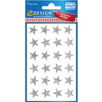 Naklejki Z-Design foliowe - srebrne gwiazdy 52256 AVERY ZWECKFORM
