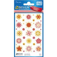 Naklejki foliowe z transparentnym tłem - złoto-czerwone gwiazdy Z-Design 54123 AVERY ZWECKFORM