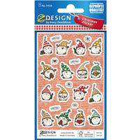 Naklejki papierowe z tłoczeniami - świąteczne skrzaty Z-Design 54124 AVERY ZWECKFORM
