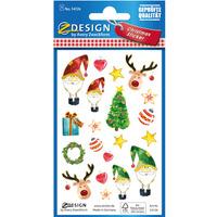 Naklejki papierowe z tłoczeniami - świąteczne motywy Z-Design 54126 AVERY ZWECKFORM