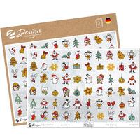 Naklejki papierowe ze złotymi tłoczeniami A5 - mini motywy świąteczne Z-Design 54614 AVERY ZWECKFORM