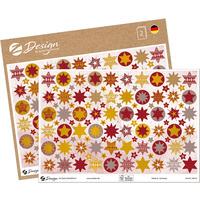 Naklejki papierowe ze złotymi tłoczeniami A5 - gwiazdki Z-Design 54616 AVERY ZWECKFORM