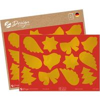 Naklejki papierowe A5 błyszczące - złote motywy świąteczne 54618 AVERY ZWECKFORM