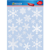 Naklejki foliowe Z-Design na okno - płatki śniegu 52298 AVERY ZWECKFORM