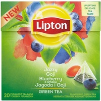 Herbata LIPTON PIRAMID zielona JAGODY GOJI (20 saszetek)