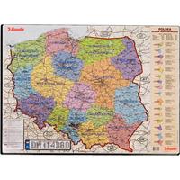 Podkładka na biurko z mapą Polski 500x650mm ESSELTE 12051