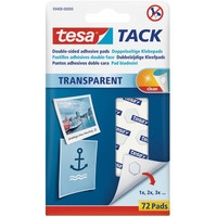 Płatki samoprzylepne bezbarwne TESA TACK 72szt 59408-00000-00