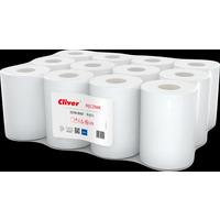 Ręcznik biały CLIVER 65m 1warstwa(12szt) makulatura