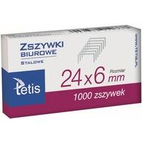 Zszywki biurowe 24/6 1000szt GZ101-A TETIS