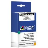 Taśma BLACK POINT (KBPC600BL) czarna nylon 12, 7mm/9, 5m zamiennik CITIZEN (DP600)