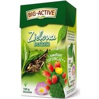 Herbata BIG-ACTIVE liściasta zielona z kawałkami OPUNCJI 100g