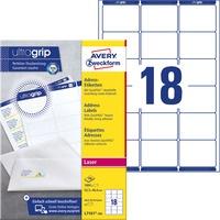 Etykiety A4 białe(100arkuszy)63, 5*46, 6mm L7161-100 (1800 etykietek) AVERY ZWECKFORM