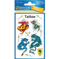 Naklejki tatuaże dla dzieci SMOKI 56404 Z-DESIGN KIDS TATTOO AVERY ZWECKFORM