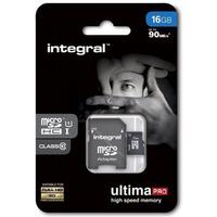 Pamięć MicroSD INTEGRAL 16GB MicroSDHC CL10 INMSDH16G10-90U1 ULTIMA PRO