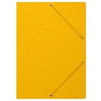 Teczka z gumką rogi DATURA/NATUNA A4 preszpan żółta 390g
