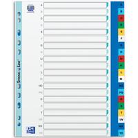 Przekładki A4 MAXI A-Z kolor PP alfabetyczne ELBA 100204733
