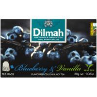 Herbata DILMAH (20 torebek) czarna z aromatem czarna jagoda i wanilia 85026