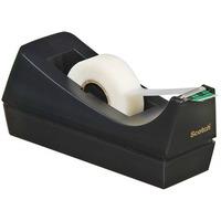 Podajnik biurkowy do taśm C38 3M SCOTCH czarny bez taśmy 70005150167