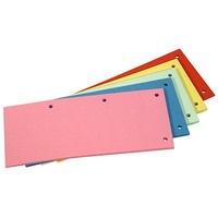 Przekładka kartonowa DATURA/NATUNA 1/3 A4 (100szt) mix kolorów
