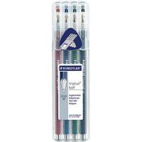 Długopis TRIPLUS BALL 4szt STEADLER 431 FSB4