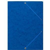 Teczka z gumką rogi NATUNA A4 preszpan niebieska 390g