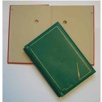 Teczka do podpisu 20k zielona registry 920-004 WARTA grzbiet harmo
