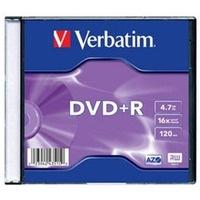 Płyta DVD+R VERBATIM SLIM 4.7GB Matt Silver 4351