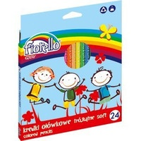 Kredki FIORELLO Super soft 24 kolorów trójkątna 170-2188