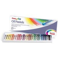 Kredki pastele olejne PENTEL 25kolorów PHN25