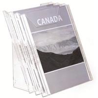 Zestaw półek na czasopisma 3xA4 przeroczysty 8580-19 COMBIBOXX DURABLE