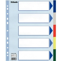 Przekładki plastikowe MAXI z PP ESSELTE 5 kart 15266
