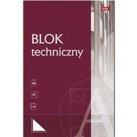 Blok techniczny A4 10 kartek biały UNIPAP