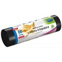 Worki na śmieci ekologiczne 60L 10szt. z taśmą (LDPE) STELLA WNS-4256