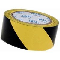 Taśma ostrzegawcza żółto-czarna 48mm x 25m SMART samoprzylepna winylowa