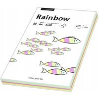 Papier xero kolorowy A4 80g RAINBOW mix pastelowy (100ark) 88043187