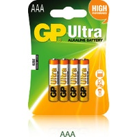 Bateria alkaliczna GP Ultra AAA/LR03 (4szt) 1.5V GPPCA24AU016