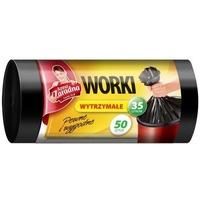 Worki na śmieci 35l wytrzymałe HDLD (50szt.)czarne ANNA ZARADNA WNS0516/40