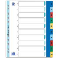 Przekładki A4 MAXI 1-10 kolor PP numeryczne ELBA 100205095