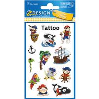Naklejki tatuaże dla dzieci PIRACI 56683 Z-DESIGN KIDS TATTOO AVERY ZWECKFORM