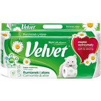 Papier toaletowy VELVET (8)zapach RUMIANEK